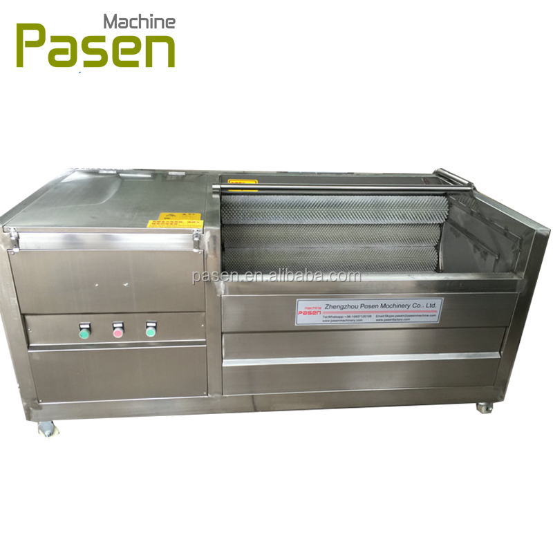 Industrial Potato Washing Machine , Machines That Clean And Peel Potato , Carrot Wash And Peel Machine