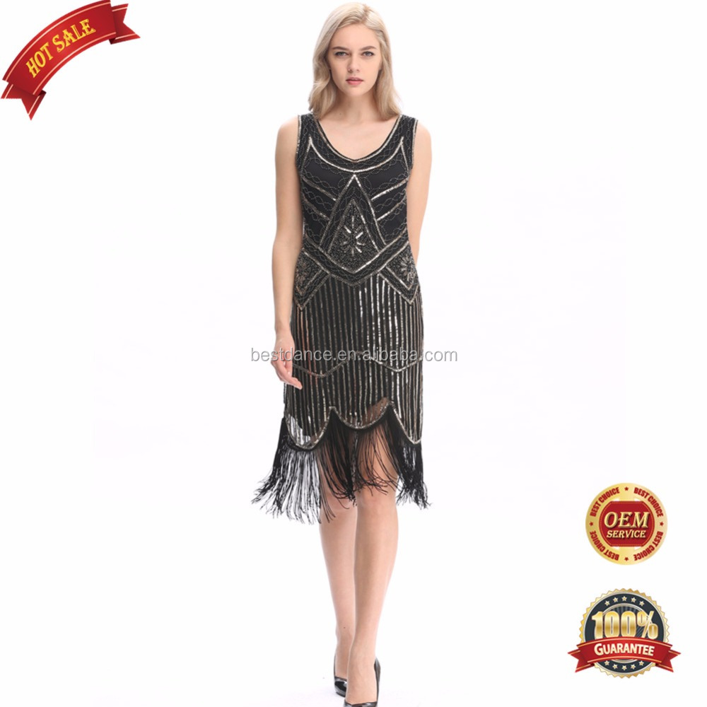 BestDance Women's 1920s <strong>Vintage</strong> Beaded Fringed <strong>Inspired</strong> Flapper Fancy Evening <strong>Dress</strong> Costumes OEM