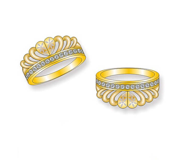 Pakistani Gold Zircon Tortoise Ring Designs Buy Pakistani Gold