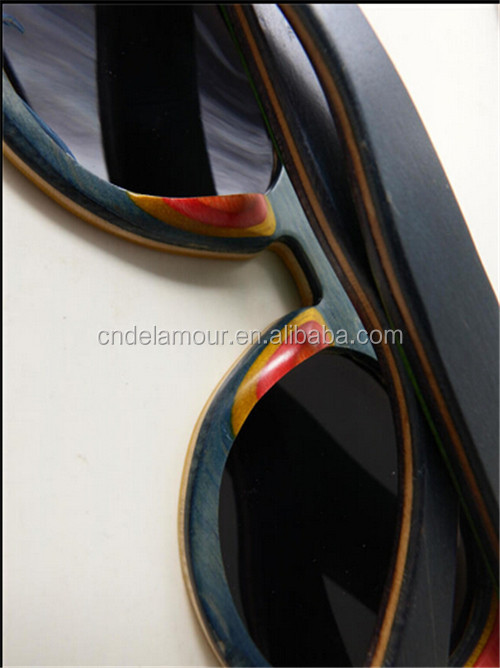 Handmade colorful bamboo wooden sunglasses DLS9331