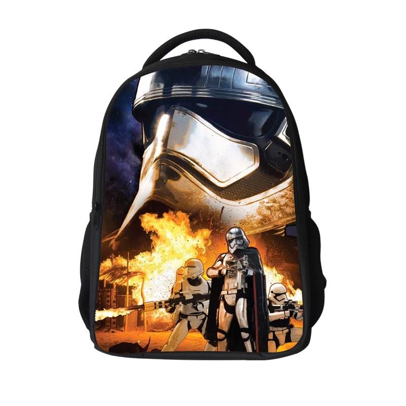 e586a3e358eb 16 12Inch Popular School Bag BB8 Cartoon Backpacks Child Star Wars Backpack  For Kids Boys Star Wars Bag For Girls Teenagers Bags - TopTenShop.EU