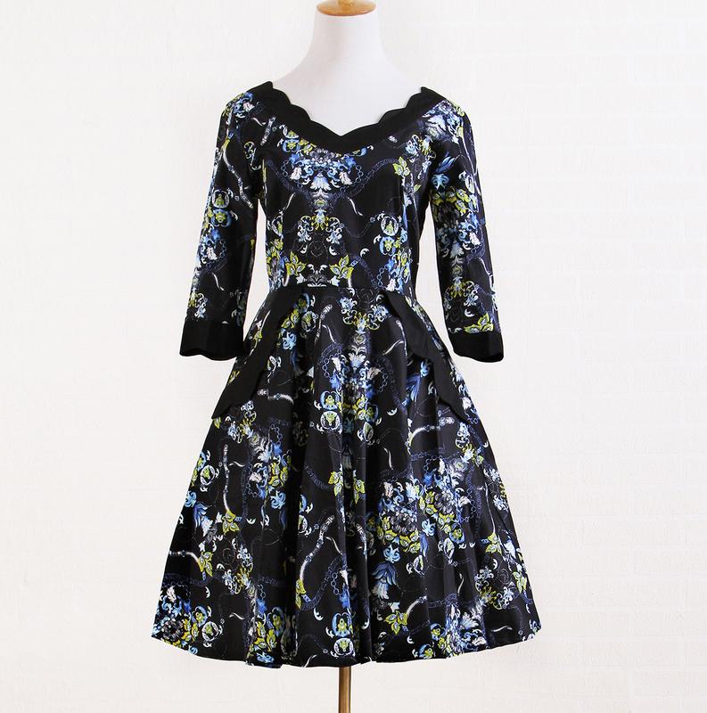 Kleider Designer-amerikanische Vintage Halbarm Abschlussballkleid ...