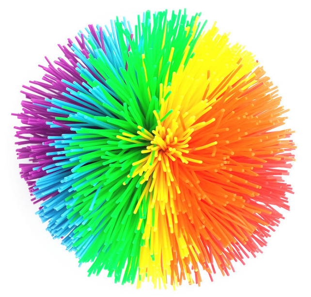 Hot Sales 6.5cm Silicone Multicolor Koosh Toy Balls