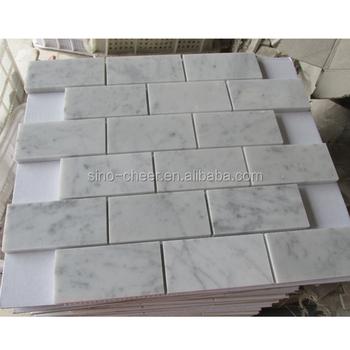 Wundervoll Carrara Marmor Nicht Abgeschrägte Ziegel, U Bahn Fliesen BACKSPLASH