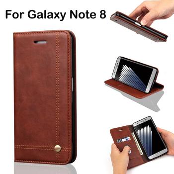 Rétro Housse de protection Pour Samsung Galaxy Note 8 Étui En Cuir De Luxe  Ultra Mince 714d46e0d8b