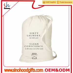 cotton canvas laundry bags drawstring in bulk customize wholesale laundry bags