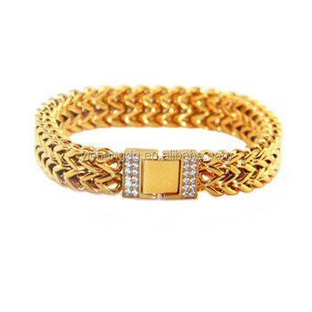 men langlois franco bracelet en for yellow gold