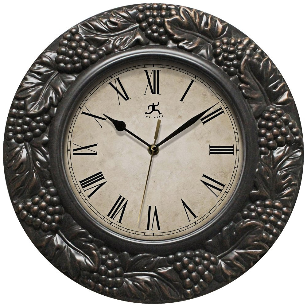 Infinity Instruments Napa 13.5 inch Silent Sweep Wall Clock