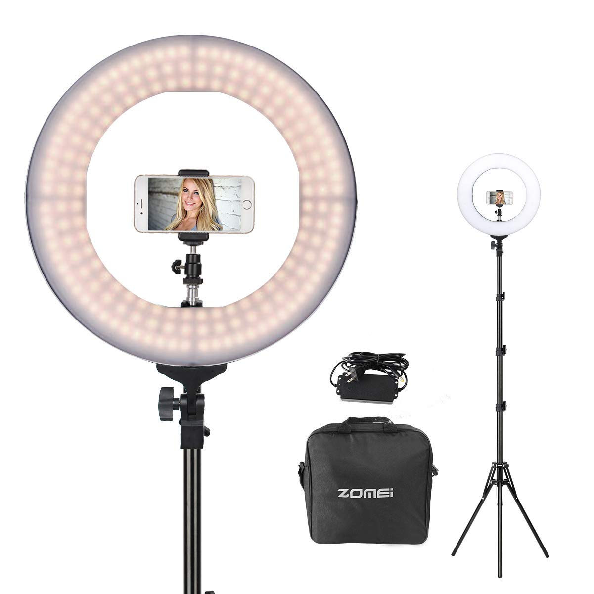 """ZOMEi 14"""" Dimmable Ring Light Makeup Lighting"""