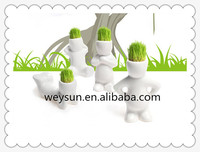 Cute Creative Ceramic Magic Grass Planting Baby Plants Porcelain Pot Home Decor