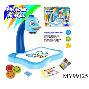 Children picture projector toys educational painting toys with color pens plastic and EN71