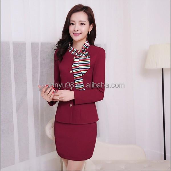 Oem 2015 Fashion Stewardess Uniforms Teacher's Uniform Solid Color ...