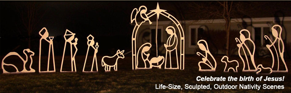 Led Light Outdoor Nativity Set