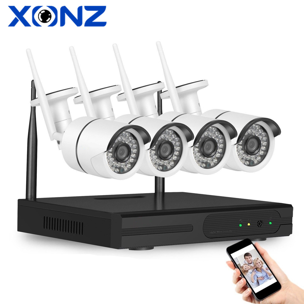 onvif surveilance system wireless Outdoor Home Monitoring Kit 1080P 4 channel cctv wifi system