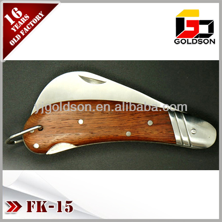 folding two blades hunting knife