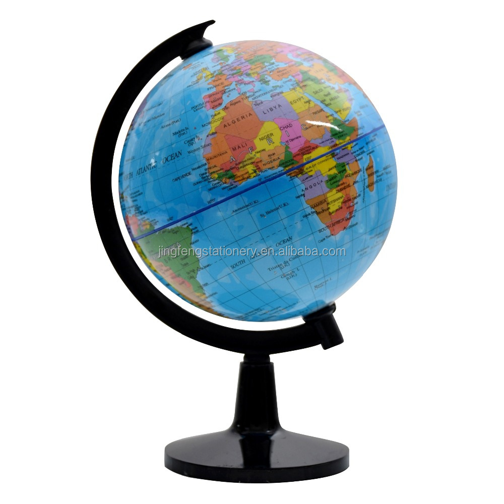 Wholesale 10.6cm Educational Earth PVC Map Shcool Plastic Globe Geography Subject Children toys