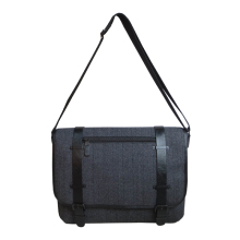 Fancy wool travel laptop messenger bag with multifunction pocket inside