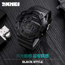 Sports Outdoor Black Face Digital Watches Big Mens Watch Big Wrist From Factory