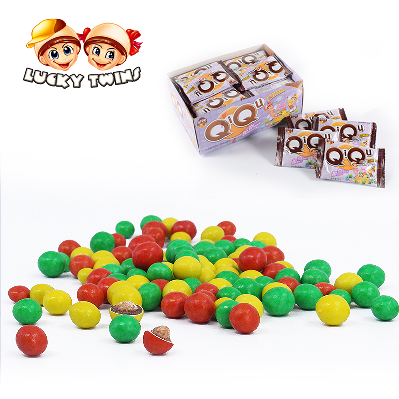 Top quality biscuit beans chocolate filling in colorful