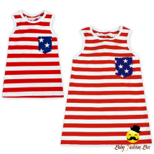 2LYF113 Yihong Baby Girls Mommy & Me 4th of July Tank Tops