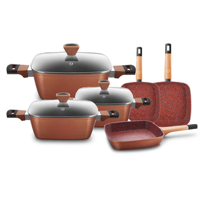 Home Kitchen Induction Aluminum Copper Pressure Ceramic Coating cookware set