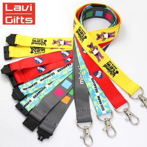 Custom Dye Sublimation Carabiner Whistle Lanyard For Sale