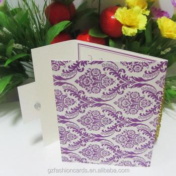 2015 elegant paper magnet pocket fold wedding invitation cards