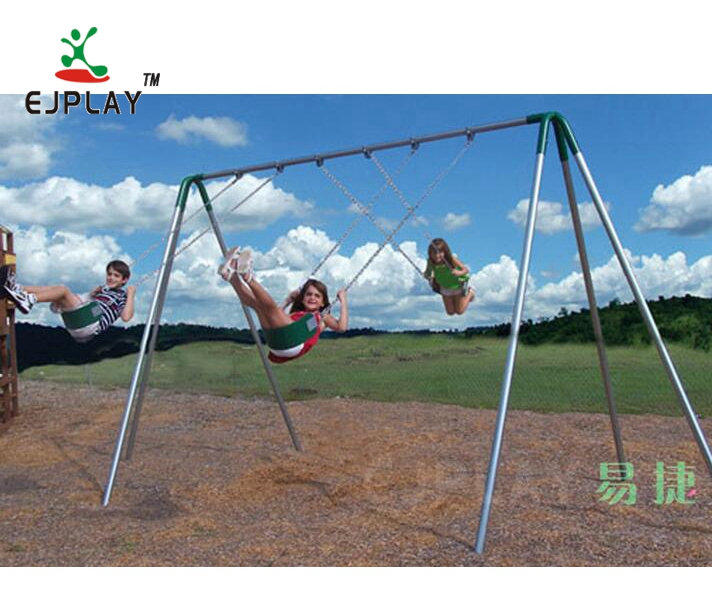 Stable Fixed Outdoor Playground Metal Swing Set For Kids Play Toys