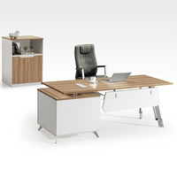 haijing malaymin office furniture modern round design MDF african desk