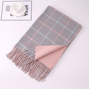 Scarves Cashmere Cape Surface Winter Warm Scarf Pashmina Shawls Soft Female Tassel Cashmere Women Scarf
