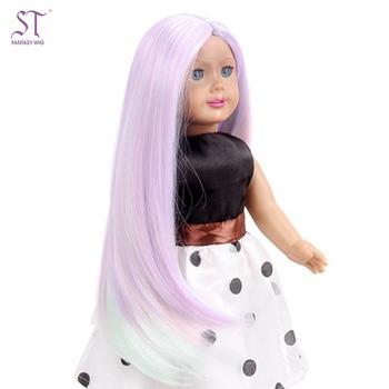 da8e0421778e4 Fantasy American Girl Doll Wigs Ombre Purple Mint Green Long Straight  Hairpiece Wholesale Bjd Doll Wigs - Buy Wig For American Girl Doll,Ombre  Doll ...