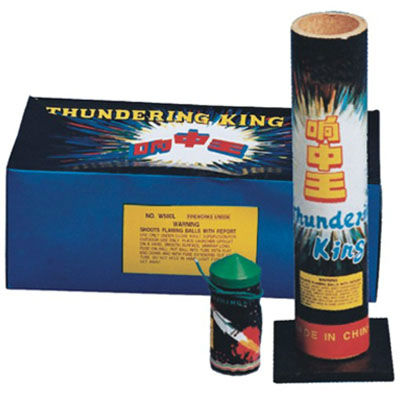 "1.75"" thunder king artillery shells fireworks w mortar tube for wholesale"