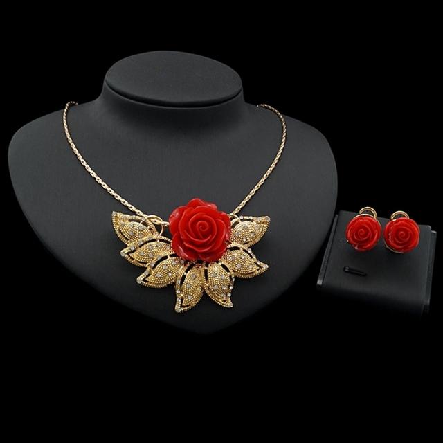 b234f2506a 2017 New Fashion Bollywood KundanJewelry Necklace Earring Sets Fine Dubai  Jewelry 24K Gold Plated Jewelry Set