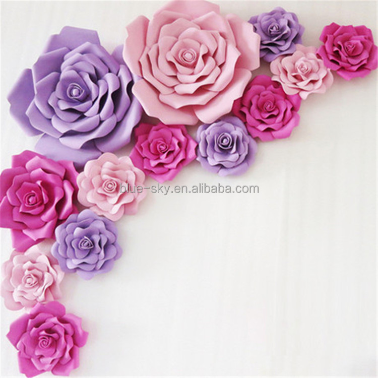 3D Heavy crepe Card Paper Flowers Decorative Giant Paper flower Artificial Flower With Various Size