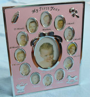 JY226 Fun baby photo frame online,12 months baby picture frame