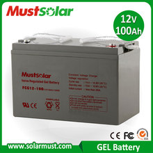 China Manufacturer 12V 100Ah Gel Sealed Lead Acid Battery for Solar Charger