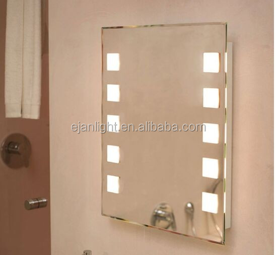 Square Shape General Electric Backlit Led Makeup Mirror