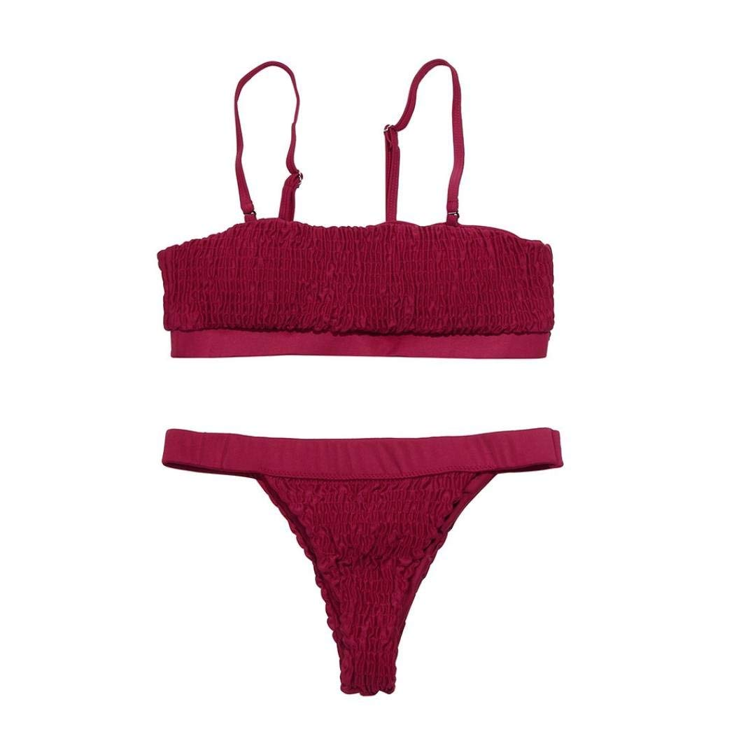 50ddc0592e Get Quotations · WOCACHI Women Swimsuit Women Bikini Set Bralette Swimwear  Cheeky Bikini Bottom Swimsuit