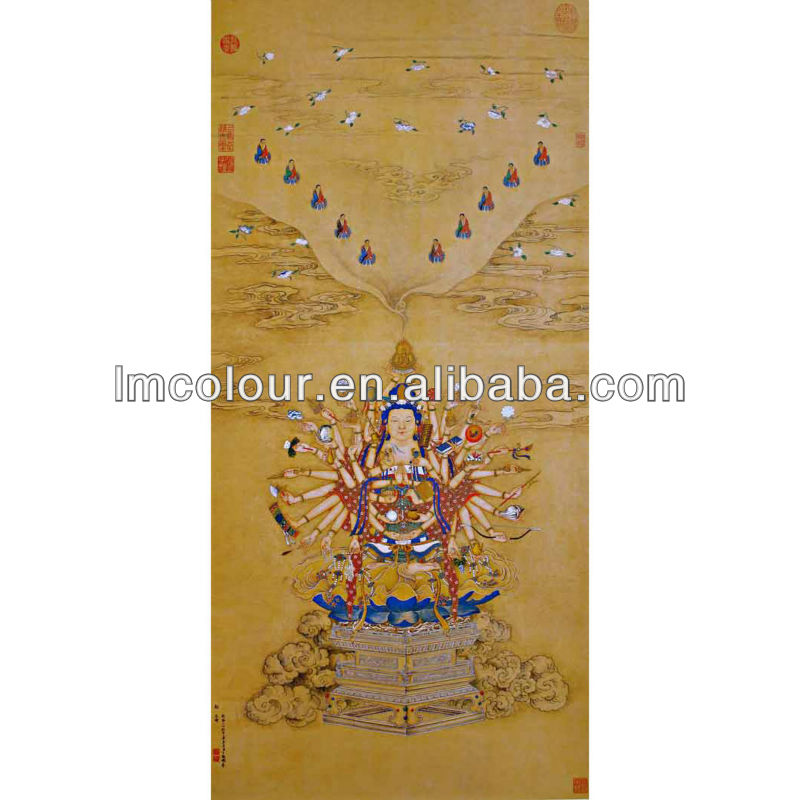 Chinese Palace Wedding Decoration Copy Paintings In Stock