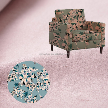 China supplier digital printing suede textile fabric, polyester sofa fabric