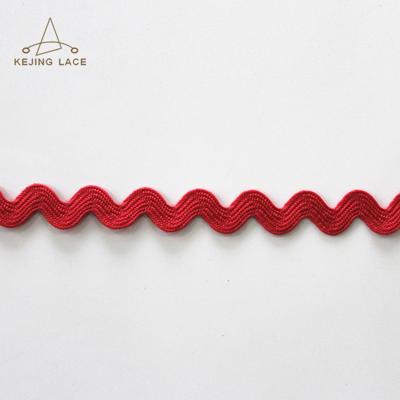 Red Colored Zig Zag Trimming Ribbon