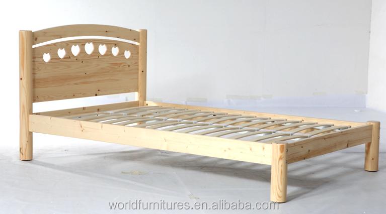 colorlife nios cama de madera slida para simple o doble cama
