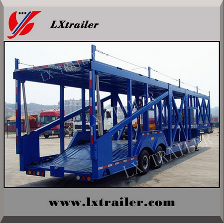Double Floor Auto Hauler Semi Trailer / Car Carrier For 6-20 Cars / Suvs Transportation