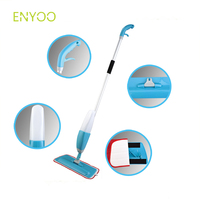 Spray Mop Wet Hard Floor Tiles Cleaning Microfibre Pad Flat Cleaner Tool double side mop pad replaceable