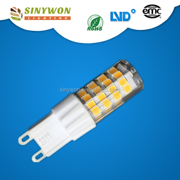 Hot Sale 3w Ceramic+Plastic Dimmable SMD 4500k G9 LED Light Bulb