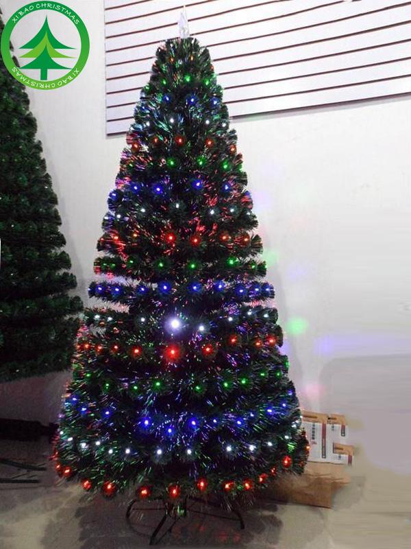 Wholesale 6.9ft(210CM) fibre optic christmas tree snowing ...