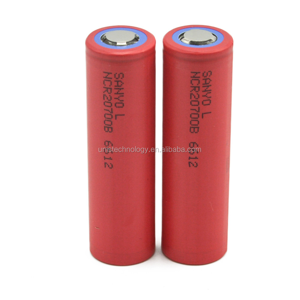 High capaciy Sanyo NCR20700B 4250mAh 12A discharge current 3.7V 20700 rea color lithium battery