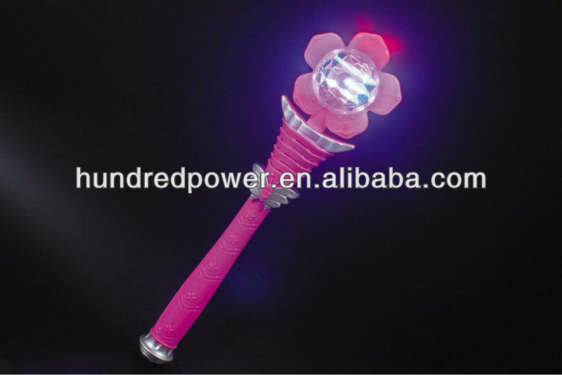 Spinning Light Up Wand - Colors may vary