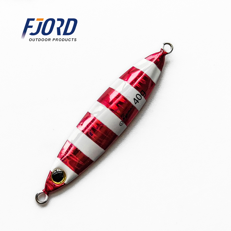 FJORD Hot Sale 30g40g60g Small Shore Cast Iron Metal Sequins Lures Bait Iron Slow Jig Bait Saltwater Jigging Fishing Lure, Glow customized