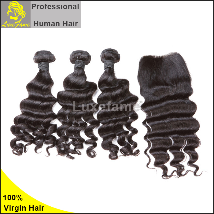 Good Choice! Nice full cuticle hair bundles,no tangle no shedding from Luxefame Hair alibaba express hair extension